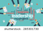 leadership concept infographics.... | Shutterstock .eps vector #285301730