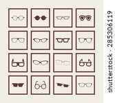 glasses icon set | Shutterstock .eps vector #285306119