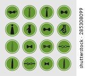 cravat necktie tie icon set | Shutterstock .eps vector #285308099
