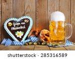 regards from the oktoberfest  ...   Shutterstock . vector #285316589
