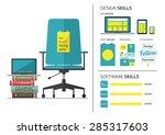 flat design of job hiring for... | Shutterstock .eps vector #285317603