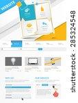 commerical website template... | Shutterstock .eps vector #285324548