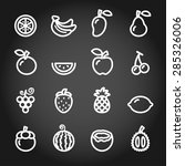 fruit icon set  chalkboard... | Shutterstock .eps vector #285326006