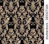 seamless decorative damask... | Shutterstock .eps vector #285327164