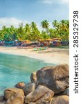beautiful goa province beach in ... | Shutterstock . vector #285329738