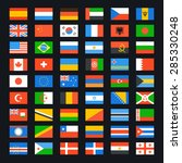 flag of world. vector icons set | Shutterstock .eps vector #285330248