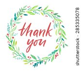 thank you card  ink hand... | Shutterstock .eps vector #285335078