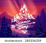 summer camp landscape. vector... | Shutterstock .eps vector #285336209