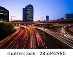 Long Exposure Traffic Scene Of...
