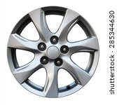 car wheel  car alloy rim on... | Shutterstock . vector #285344630