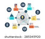set of various infographic... | Shutterstock .eps vector #285345920