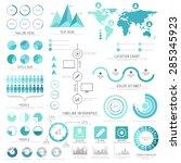 a big set of business... | Shutterstock .eps vector #285345923