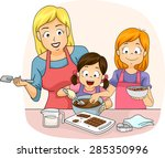 illustration of a teacher... | Shutterstock .eps vector #285350996