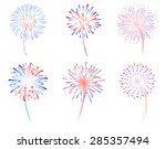 fireworks display celebration... | Shutterstock .eps vector #285357494