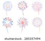 Fireworks vector illustration, Fireworks display celebration