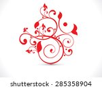 abstract artistic red floral om ... | Shutterstock .eps vector #285358904