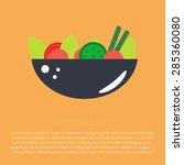 vector flat food icon. salad | Shutterstock .eps vector #285360080