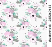 floral vector background for... | Shutterstock .eps vector #285360668