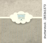 vintage frame with cloud grunge ... | Shutterstock .eps vector #285361373