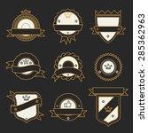 set of monochrome hipster... | Shutterstock . vector #285362963