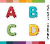 font cute design cartoon style... | Shutterstock .eps vector #285367028