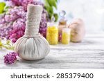 massage bags with spa treatment ... | Shutterstock . vector #285379400