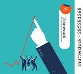 businessman's finger making a... | Shutterstock .eps vector #285381368