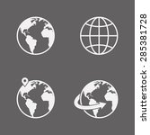 vector globe icons set | Shutterstock .eps vector #285381728