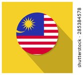 long shadow malaysia flag button | Shutterstock .eps vector #285384578