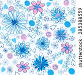 floral seamless pattern. vector ... | Shutterstock .eps vector #285388559