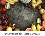 fresh fruit. fruit variety on... | Shutterstock . vector #285389678