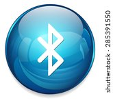 bluetooth icon   button | Shutterstock .eps vector #285391550