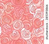 Stock vector seamless roses pattern vector illustration 285393866