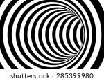 black and white striped... | Shutterstock . vector #285399980