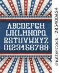 vintage american font on retro... | Shutterstock .eps vector #285400634