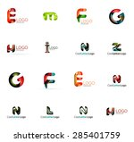 set of new universal company... | Shutterstock . vector #285401759