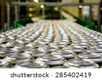 thousands of beverage aluminum... | Shutterstock . vector #285402419