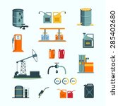oil and petrol industry vector... | Shutterstock .eps vector #285402680