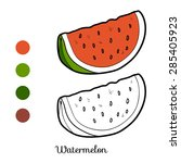 Coloring Book  Watermelon