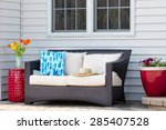 comfortable outdoor living area ... | Shutterstock . vector #285407528