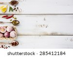 White Wooden Background With...