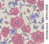 summer vintage floral seamless... | Shutterstock .eps vector #285413408