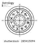 astrology background. vector... | Shutterstock .eps vector #285415094