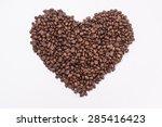 Coffee Beans In Shape Of Heart...