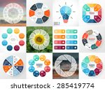 circle arrows infographics set. ... | Shutterstock .eps vector #285419774