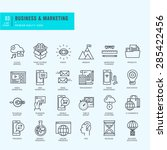 thin line icons set. icons for... | Shutterstock .eps vector #285422456