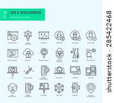 thin line icons set. icons for... | Shutterstock .eps vector #285422468