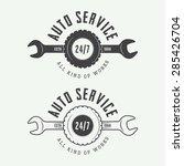 set of vintage mechanic labels  ... | Shutterstock .eps vector #285426704