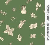 seamless pattern with hand... | Shutterstock .eps vector #285428603