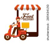 food delivery design  vector... | Shutterstock .eps vector #285434150